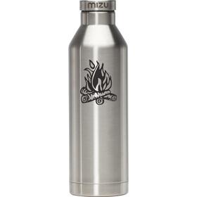 MIZU V8 Drinkfles with Stainless Steel Cap 800ml zilver